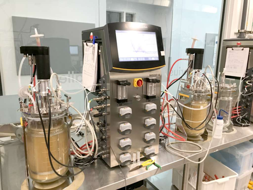 Lab equipment in the CSL Behring Fermentation Facility