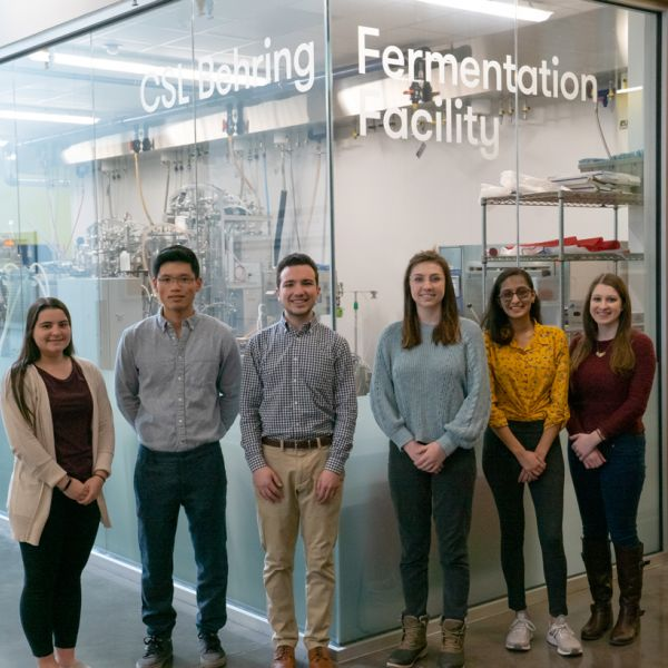 CSL Behring Scholarship Recipients (left to right) Nicole Guise, Yihao Lin, Matthew Aronson, Morgan Roggenbaum, Hinkal Patel, Brianna Frederick.