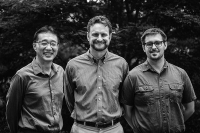 Gang Ning, director of Penn State's Microscopy & Cytrometry Facility (left), Todd LaJeunesse, associate professor of biology at Penn State (middle), and Drew Wham, a former graduate student in LaJeunesse's lab, have been selected to receive the 2017 Tyge Christiansen Prize by the International Phycological Society